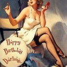 Happy Birthday Pin Up Girl Elvgren Poster 13x19 inches