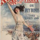 Fight or Buy Bonds World War I Poster 13x19 inches