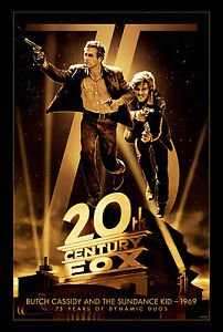 75th Anniversary Butch Cassidy and the  Movie Poster 13x19 inches