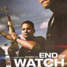 End of Watch Advance Single Sided Original Movie Poster 27x40 inches