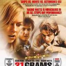 21 Grams Academy Award Original Movie Poster Double Sided 27x40 inches