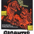 GODZILLA Gigantis the Fire Monster Movie Poster 13x19 inches