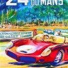 24 h  Du Mans Juin 1962 Poster 13x19 inches