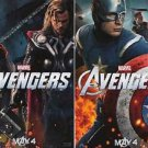 Avengers (Capt America & Thor) Original  Movie Dbl Sided Version A Poster 13x19