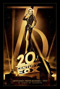 75th Anniversary Gentlemen Prefer Bolndes  Movie Poster 13x19 inches