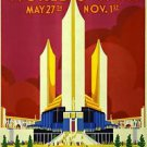 1933 Chicago World's Fair poster 13x19inches
