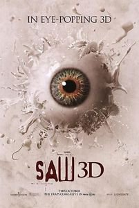 Saw 3D Advance Eye Double Sided Original Movie Poster 27x40 inches