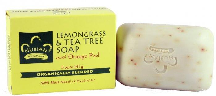 LEMONGRASS & TEA TREE SOAP WITH ORANGE PEEL ORGANIC