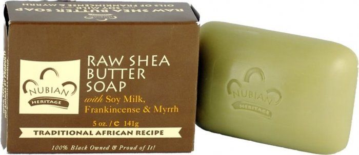 RAW SHEA BUTTER SOAP W/ SOY MILK FRANKINCENSE & MYRRH