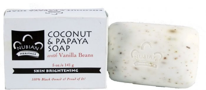 COCONUT & PAPAYA SOAP W/ VANILLA BEANS SKIN BRIGHTENING