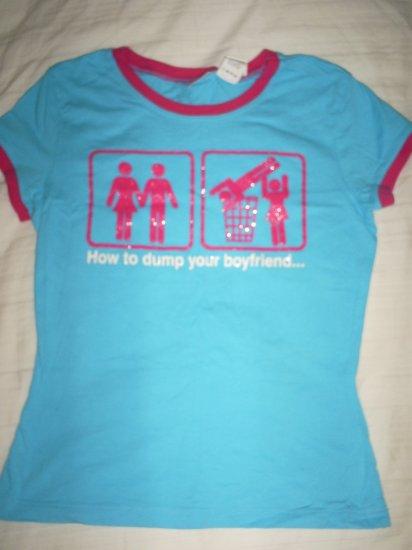 Women's Boyfriend Dump Juniors Fitted Logo Tee size Small