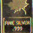 PURE 1 GRAM .999 SILVER MAPLE LEAF BAR    24 KARAT GOLD