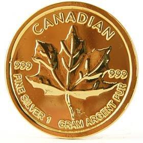 CANADA MAPLE LEAF 24 KARAT GOLD GP