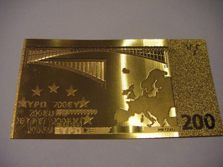 200 Euro Gold 999 Banknote Bill