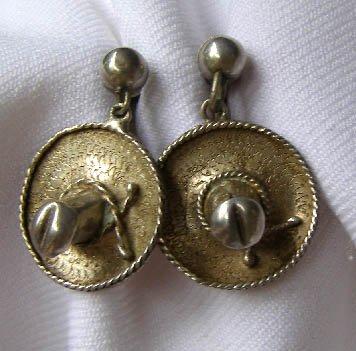 Vintage Mexico Sombrero Alpaca Silver Sombrero Hat