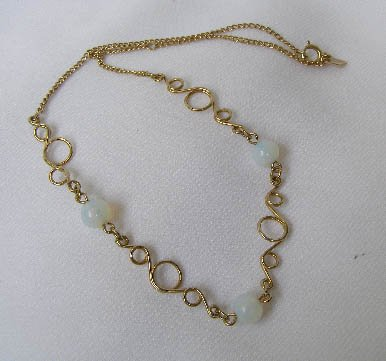 Vintage Sarah Coventry Opalescent White Glass Necklace