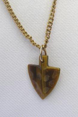 Vintage Avon Brown Agate Arrow Pendant Necklace