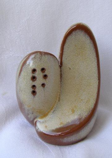 Vintage Beige Francoma Lazy Bones Salt & Pepper
