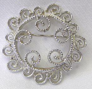 Vintage Sarah Coventry Open Work Brooch