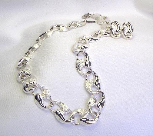 1950s Mid Century Modern Napier Necklace & Earrings