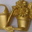 Vintage Avon Goldtone Gardening Brooch