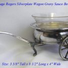 VINTAGE FB ROGERS SILVERPLATE WAGON STYLE GRAVY BOAT