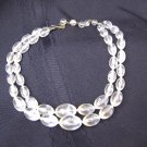 Vintage  Double Strand Lucite Plastic Bead Necklace