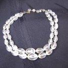 Vintage  Double Strand Lucite Plastic Bead Necklace