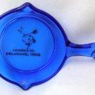 Cobalt Blue Glass Skillet Delaware Ohio Oh Souvenir