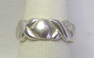 Sterling Silver Hugs & Kisses Xs & Os Ring Sz 6 1/4