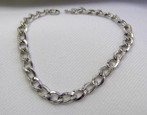 Vintage Sterling Silver Mariner Link Bracelet 7.4 Gm