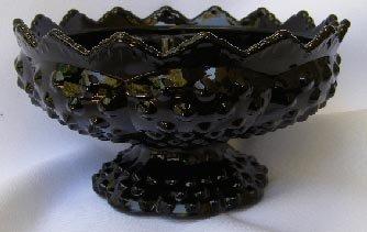 Vintage Fenton Black Glass Multi Candle Holder 6 1/2'