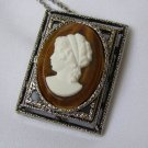 Vintage Large Cameo Convertible Pendant or Brooch