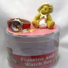 "Enesco Cherished Teddies Figurine & Watch ""Val"" MIB"