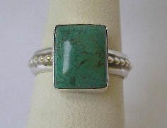Navajo Sterling Silver Turquoise Ring Sz 5