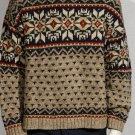 Vtg 80s Abercrombie & Fitch cotton sweater Fair Isle L