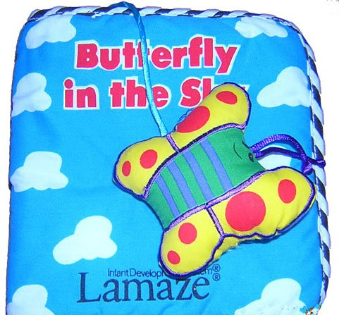 "BNIP Baby Cloth Book ""Butterfly in the Sky"" by Lamaze"