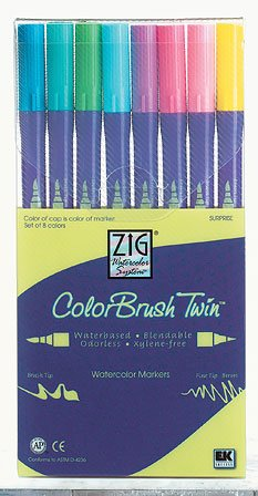 Zig Twin Tip Watercolor Markers 8 Pack SURPRISE