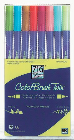 NEW Zig Twin Tip Watercolor Markers 8 Pack PLAYGROUND