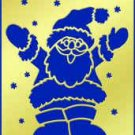 American Traditional  Brass Stencil JOLLY SANTA