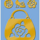 American Traditional Brass Stencil With Charms ROSE PURSE