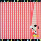 SANDYLION  DISNEY MICKEY MOUSE STRIPES 12 x 12 Paper  - 5 Sheets