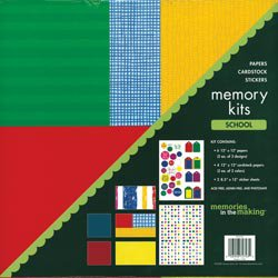 NEW School Scrapbook Page Kits by Memories In The Making