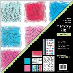 NEW Friends Scrapbook Page Kits by Memories In The Making