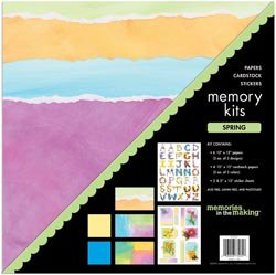 NEW Spring Scrapbook Page Kits by Memories In The Making