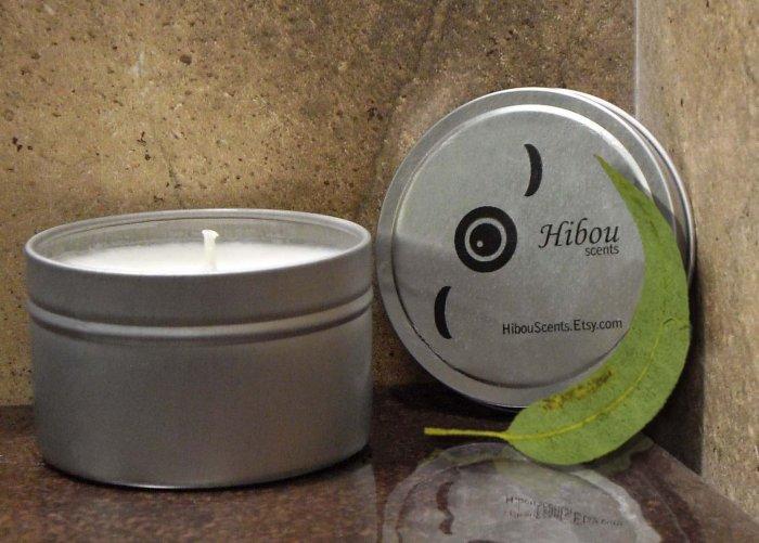 Three Eucalyptus Hibou Candles