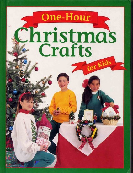 One Hour Christmas Crafts for Kids Book with Angel Pins and Clothespin Elf