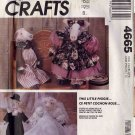 "Simplicity 18"" Prim Cloth Pig Dolls with Courting and Wedding Clothes UNCUT 4665"