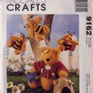 49 Cent SALE! McCalls Homespun Bears, Bees and Beehive Sewing Pattern 9162