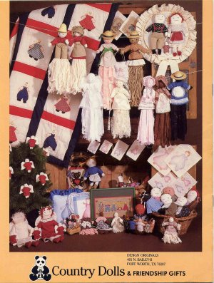 Country Dolls and Friendship Gifts Suzanne McNeill Pattern Book with Stencils